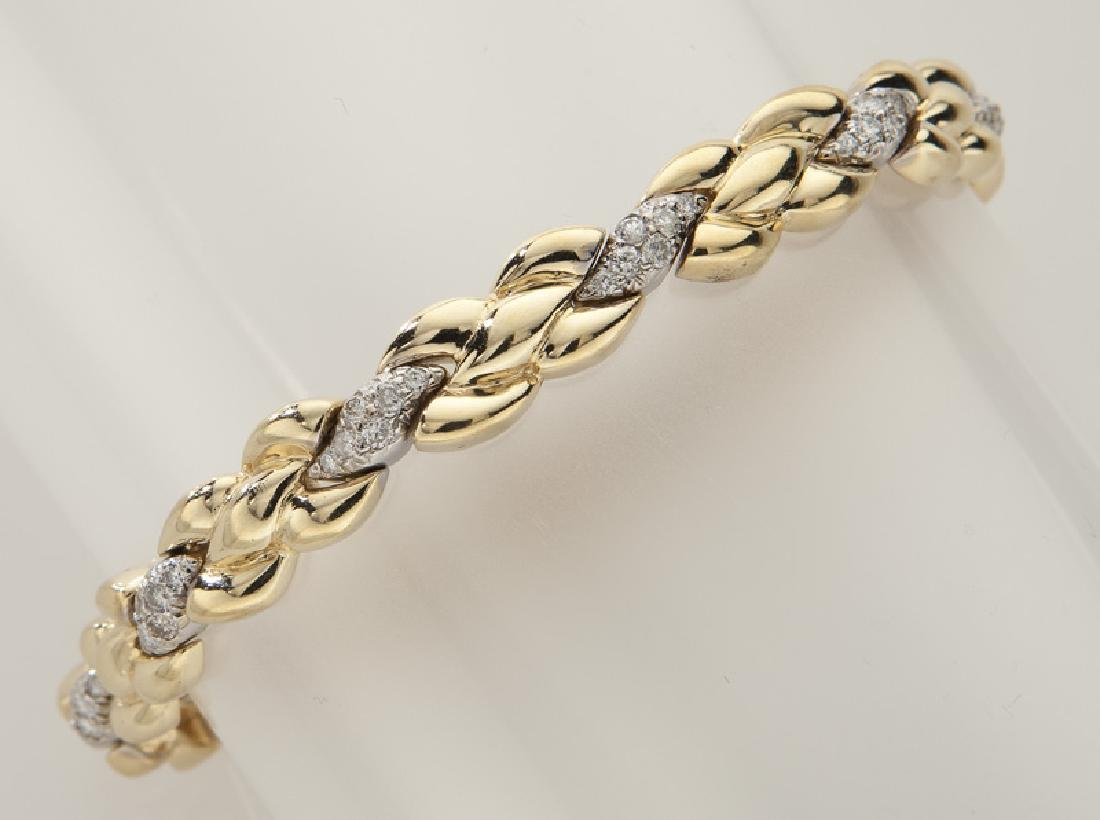 14K gold and diamond bracelet.