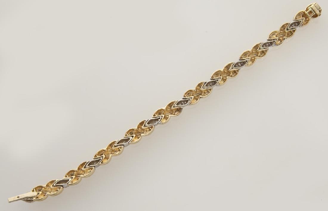 14K gold and diamond bracelet. - 3