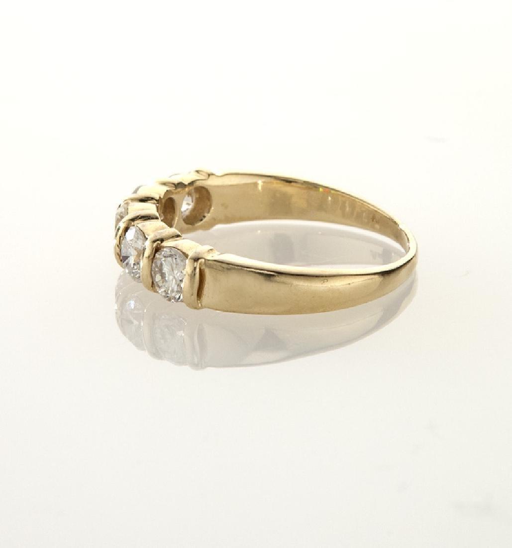 14K gold and diamond wedding band. - 3
