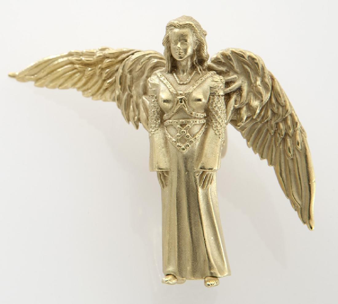 Barry Kieselstein-Cord 18K gold pendant/brooch