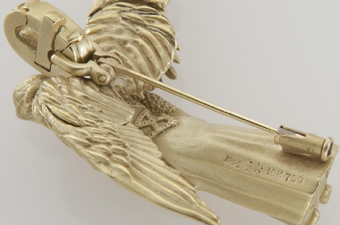 Barry Kieselstein-Cord 18K gold pendant/brooch - 3
