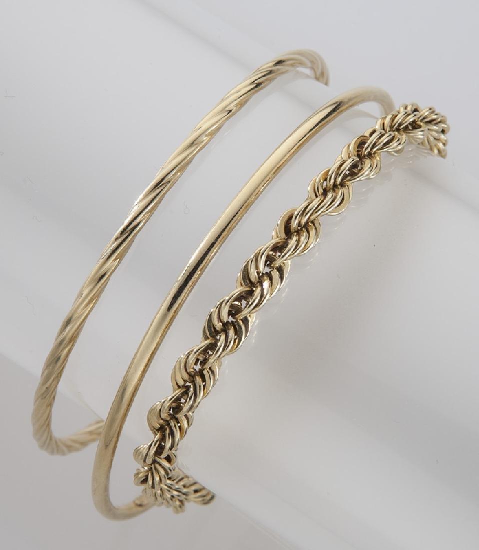 4 Pcs. 14K yellow gold jewelry - 2