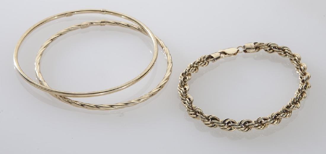 4 Pcs. 14K yellow gold jewelry - 3