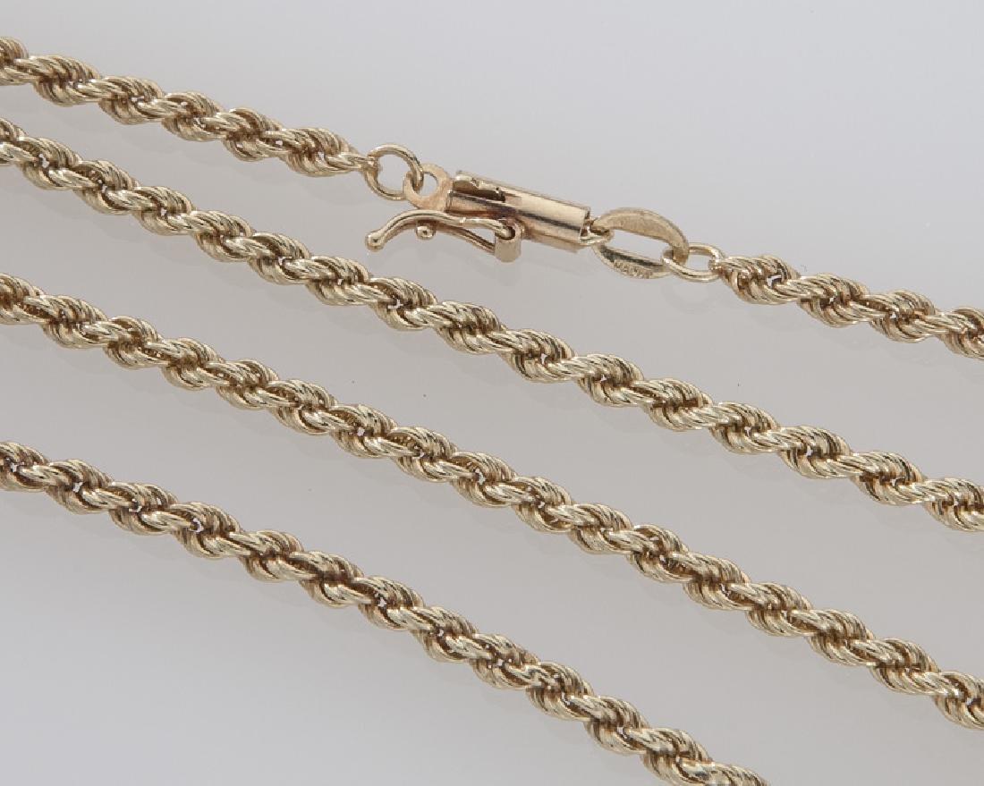 4 Pcs. 14K yellow gold jewelry - 4