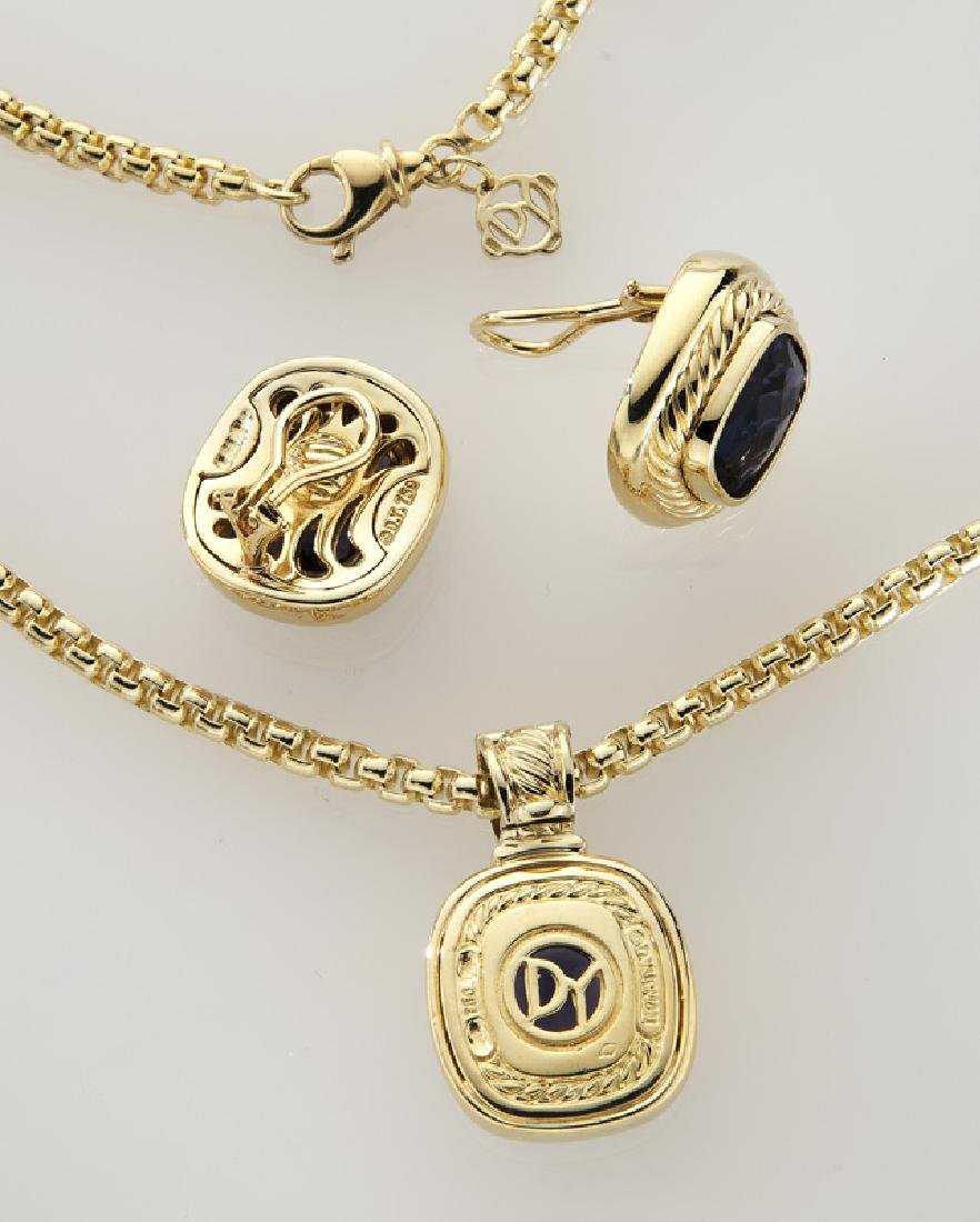 2 Pcs. David Yurman 18K gold and iolite jewelry - 3