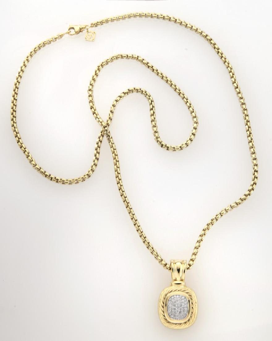 2 Pcs. David Yurman 18K gold and diamond jewelry - 2