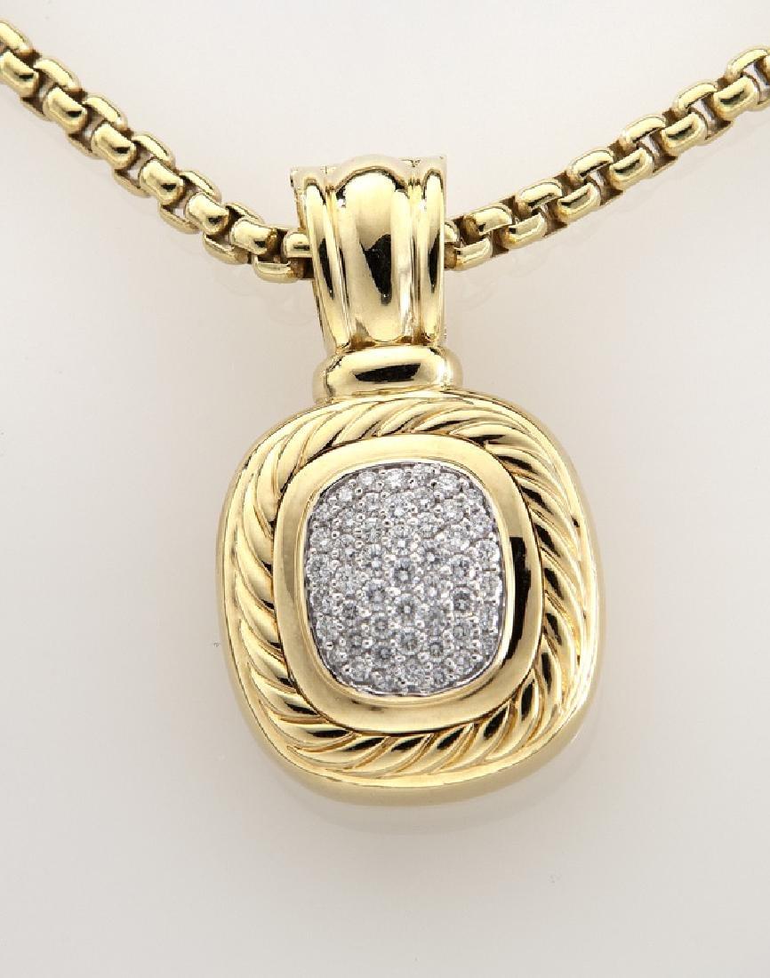 2 Pcs. David Yurman 18K gold and diamond jewelry - 3