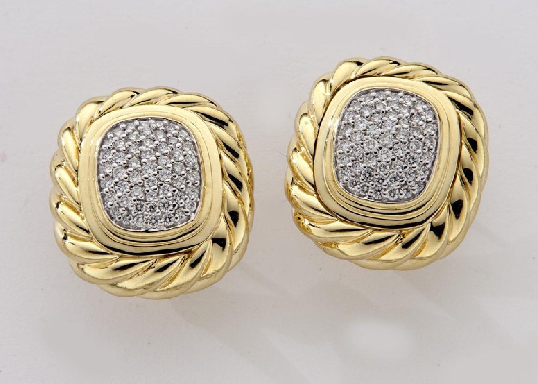 2 Pcs. David Yurman 18K gold and diamond jewelry - 5