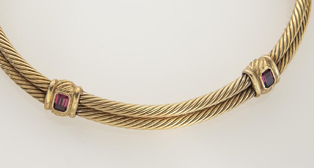 David Yurman 14K gold and tourmaline double cable - 2