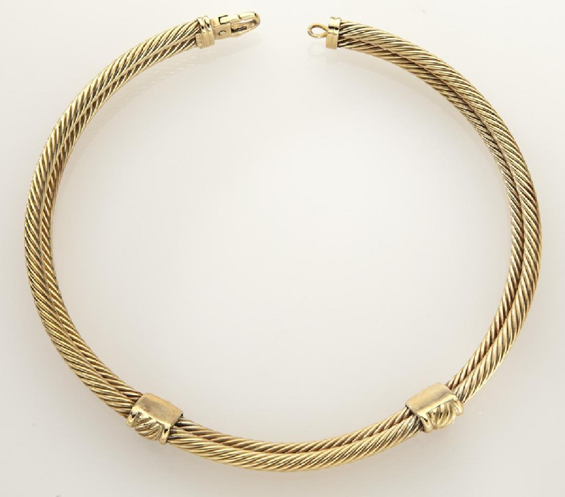 David Yurman 14K gold and tourmaline double cable - 3