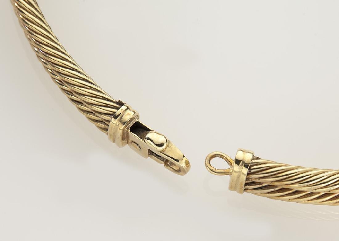 David Yurman 14K gold and tourmaline double cable - 4