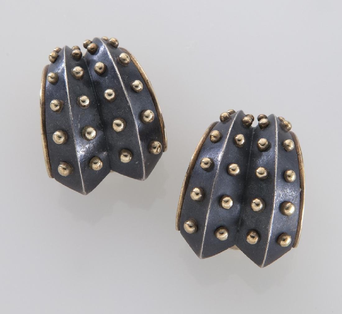Marilyn Cooperman 18K and sterling silver earrings