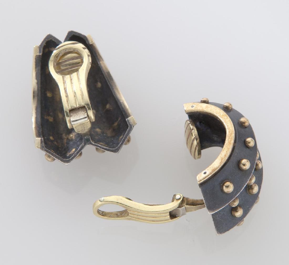 Marilyn Cooperman 18K and sterling silver earrings - 2