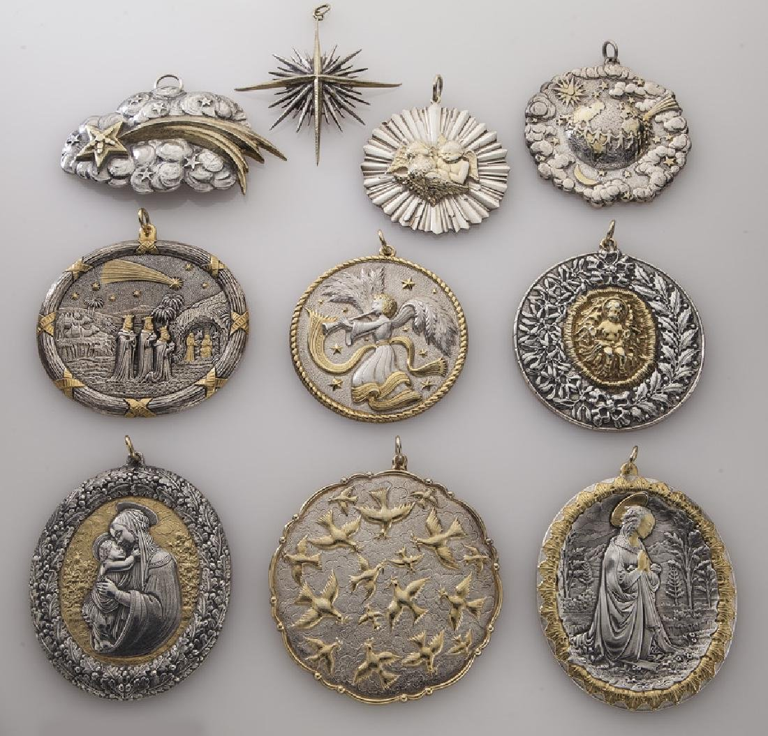 Group of 10 Buccellati sterling silver and gilt