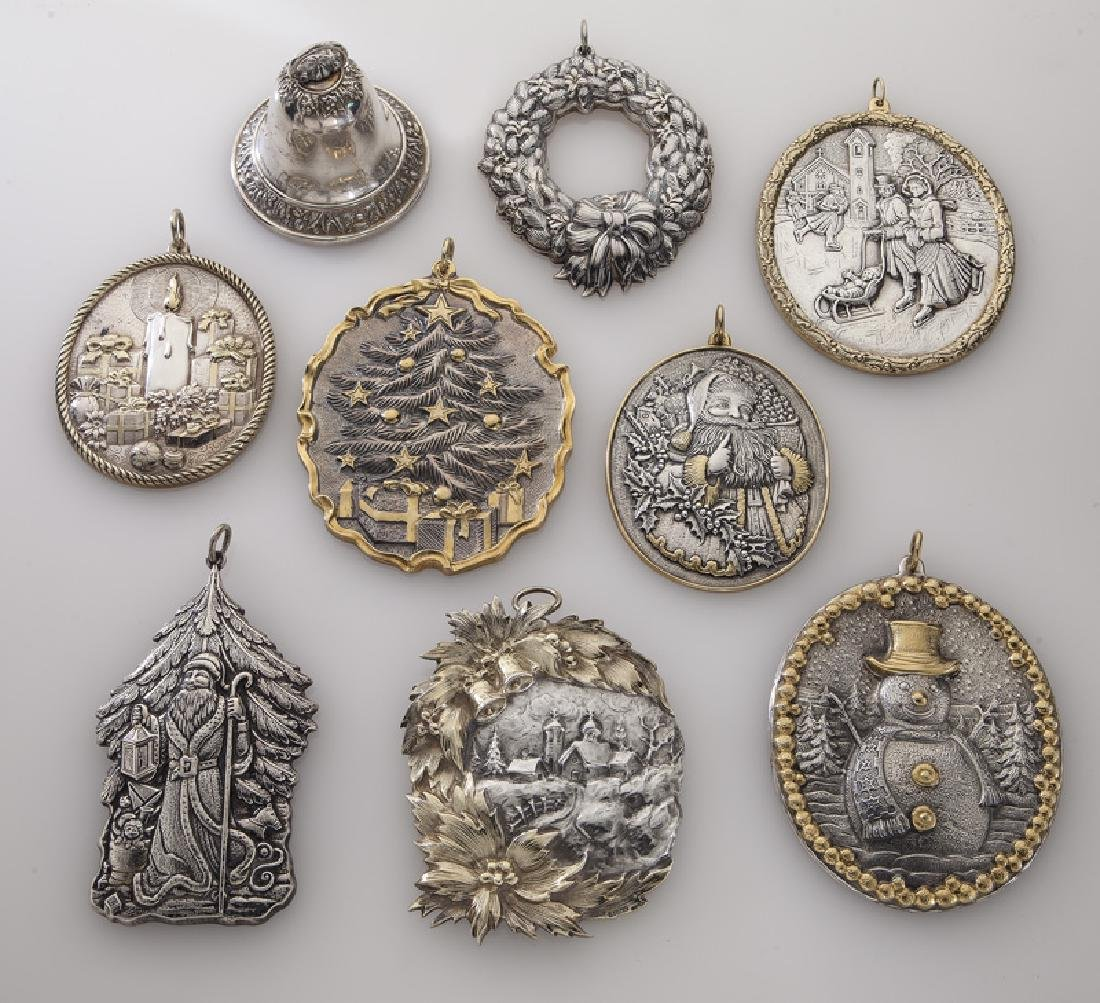 Group of 9 Buccellati sterling silver and gilt