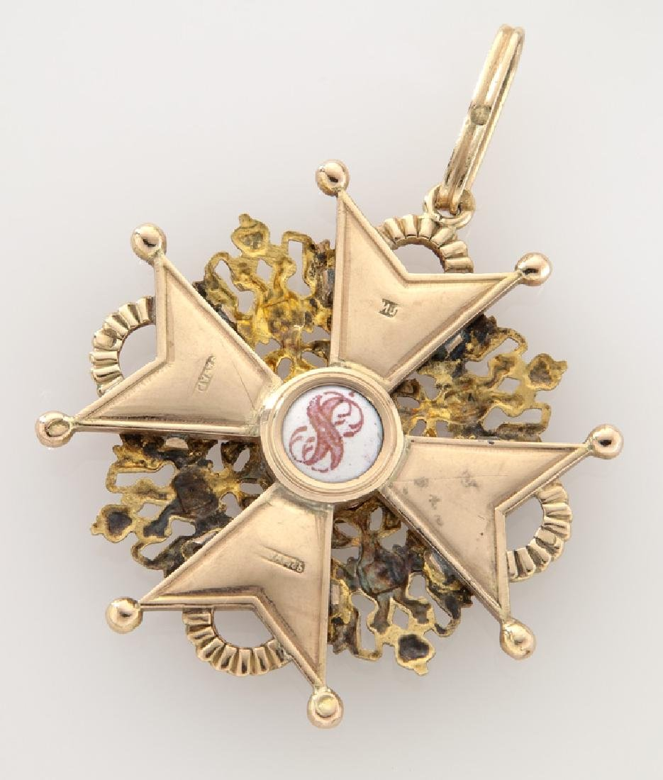 Imperial Russian gold and enamel Order of Saint - 2