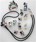 12 Pcs. Zuni (incl. Veronica Nastacio) sterling