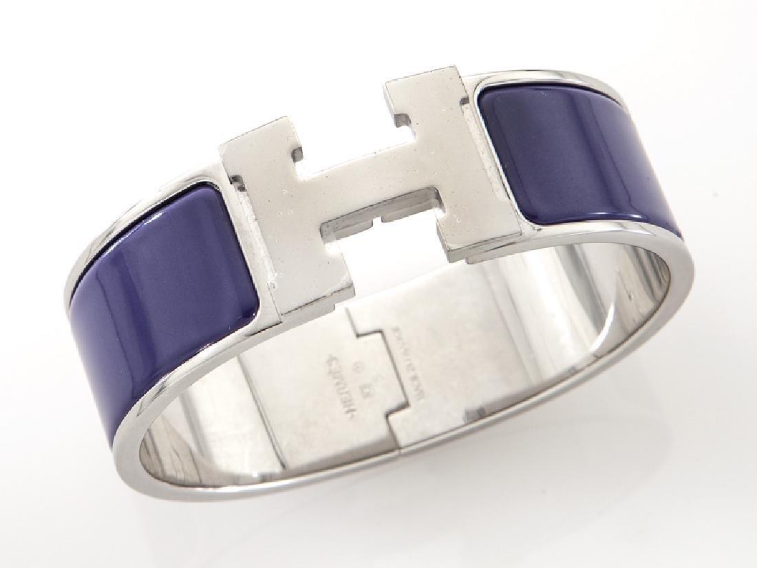 Hermes enamel Clic Clac H bracelet.