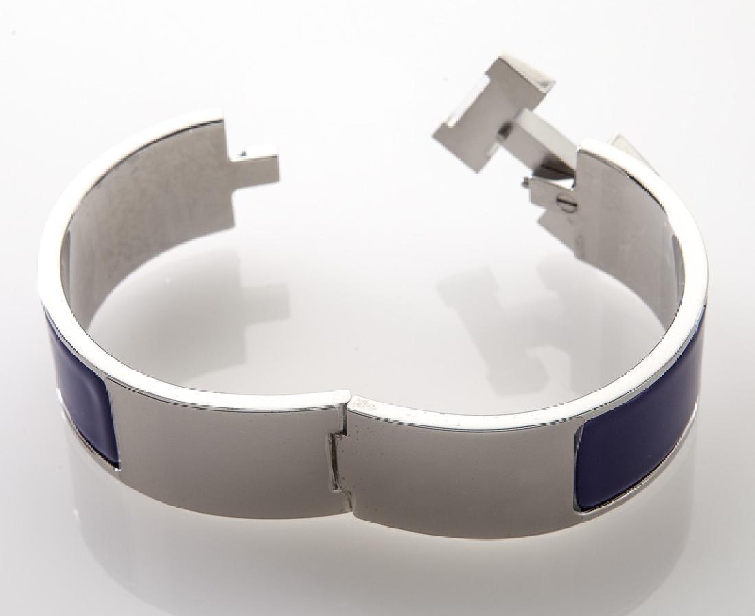 Hermes enamel Clic Clac H bracelet. - 3
