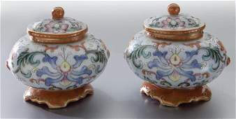 Pr. Chinese porcelain water drop pots