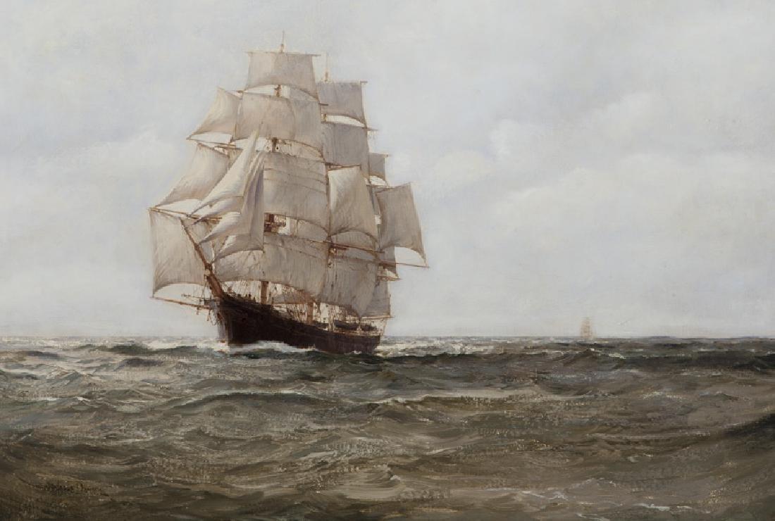 "Montague Dawson ""Untitled (Clipper)"" oil on"