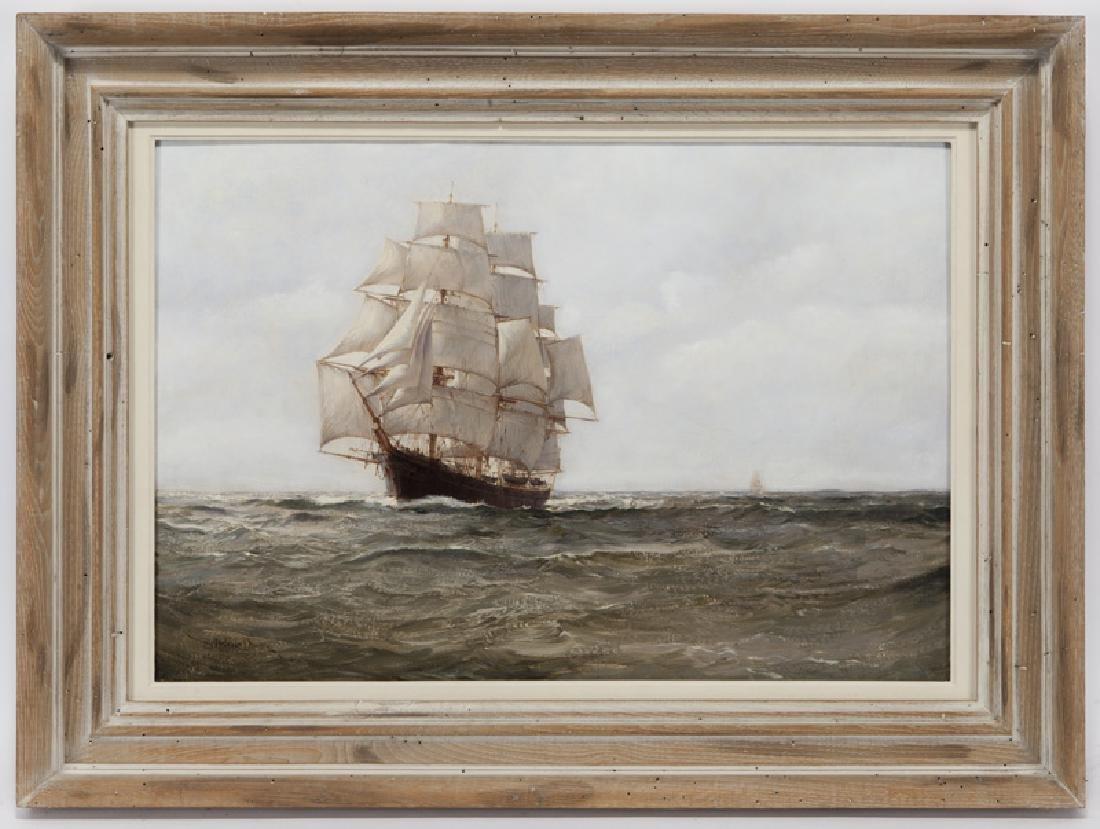 "Montague Dawson ""Untitled (Clipper)"" oil on - 2"