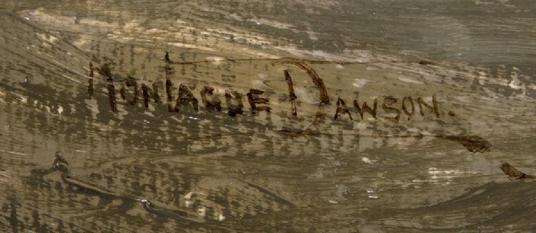 "Montague Dawson ""Untitled (Clipper)"" oil on - 4"
