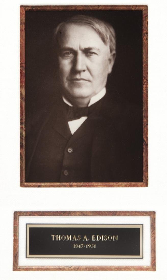 Thomas Alva Edison Three Typed Letters. - 6
