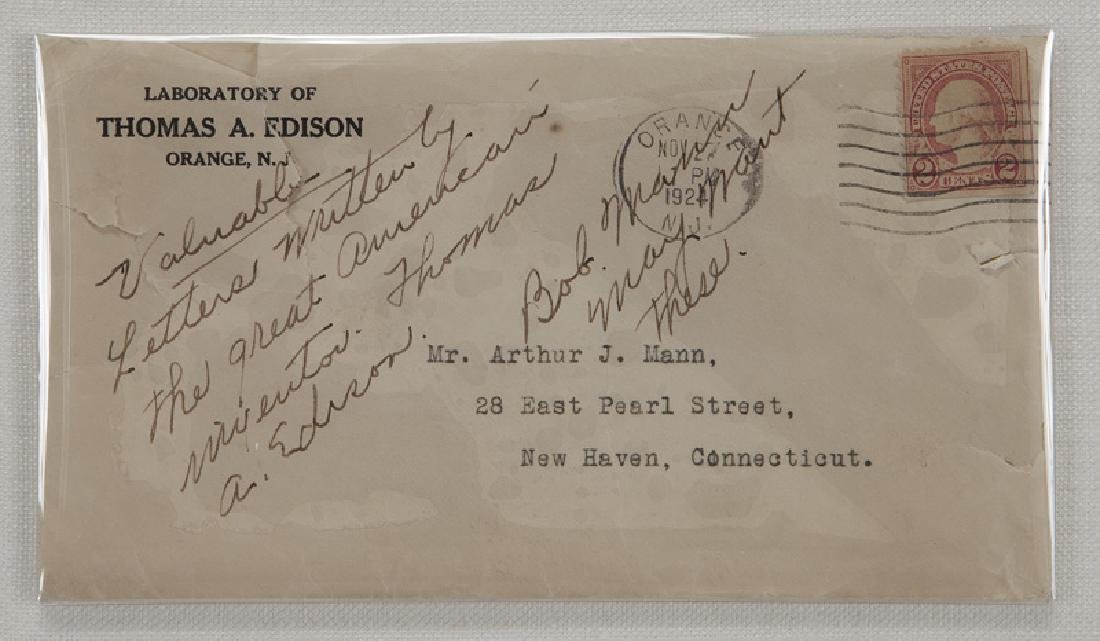 Thomas Alva Edison Three Typed Letters. - 7