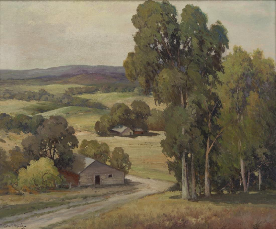 "Robert Wood ""California Landscape"" oil on"