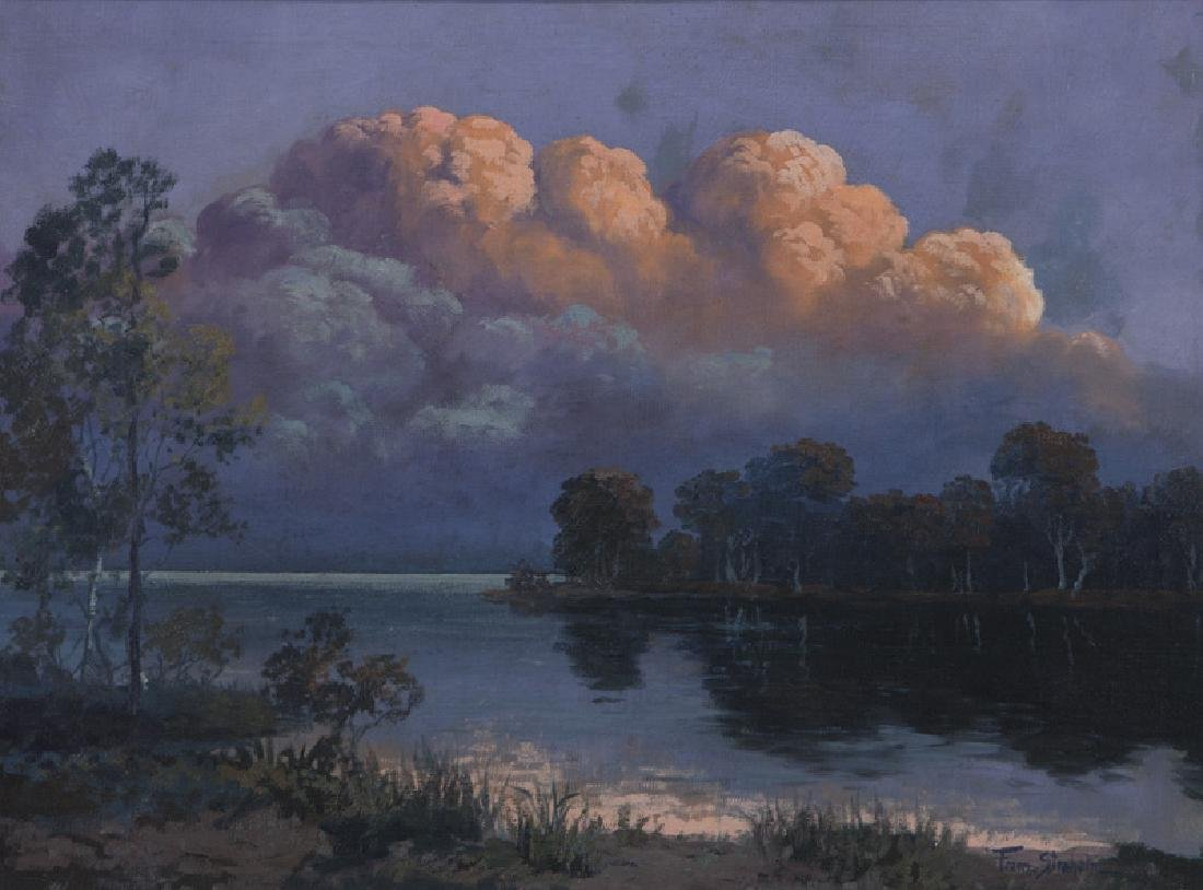 """Franz Strahalm """"Evening Clouds"""" oil on"""
