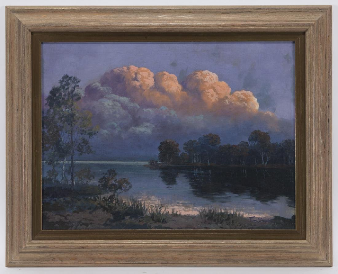 """Franz Strahalm """"Evening Clouds"""" oil on - 2"""