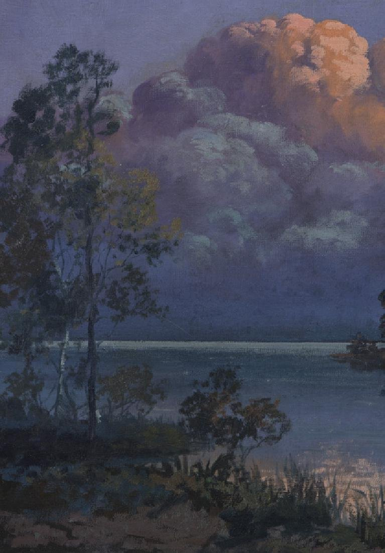 """Franz Strahalm """"Evening Clouds"""" oil on - 3"""