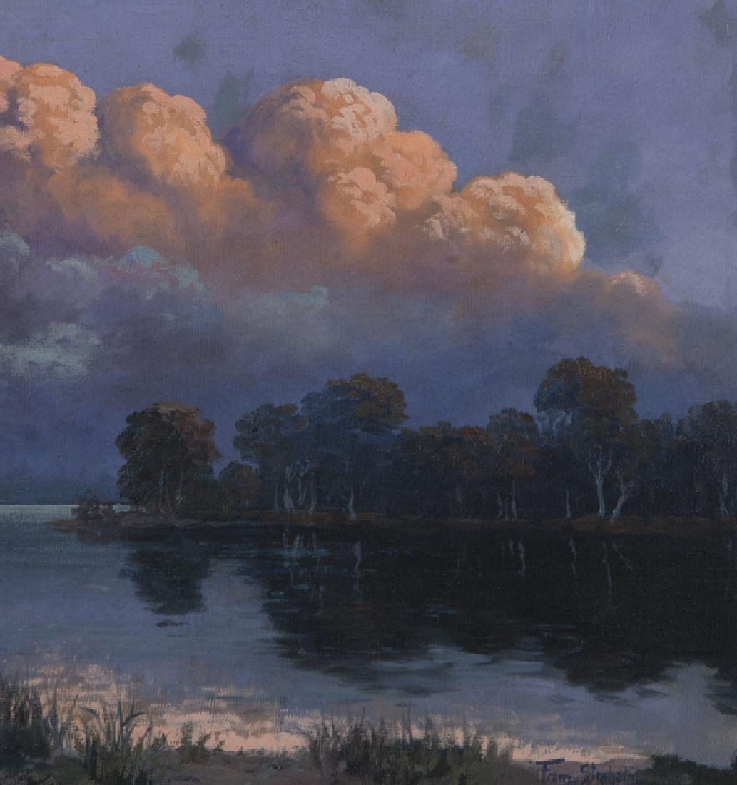 """Franz Strahalm """"Evening Clouds"""" oil on - 4"""