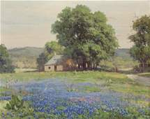 "Robert Wood ""Untitled (Bluebonnets)"" oil on"