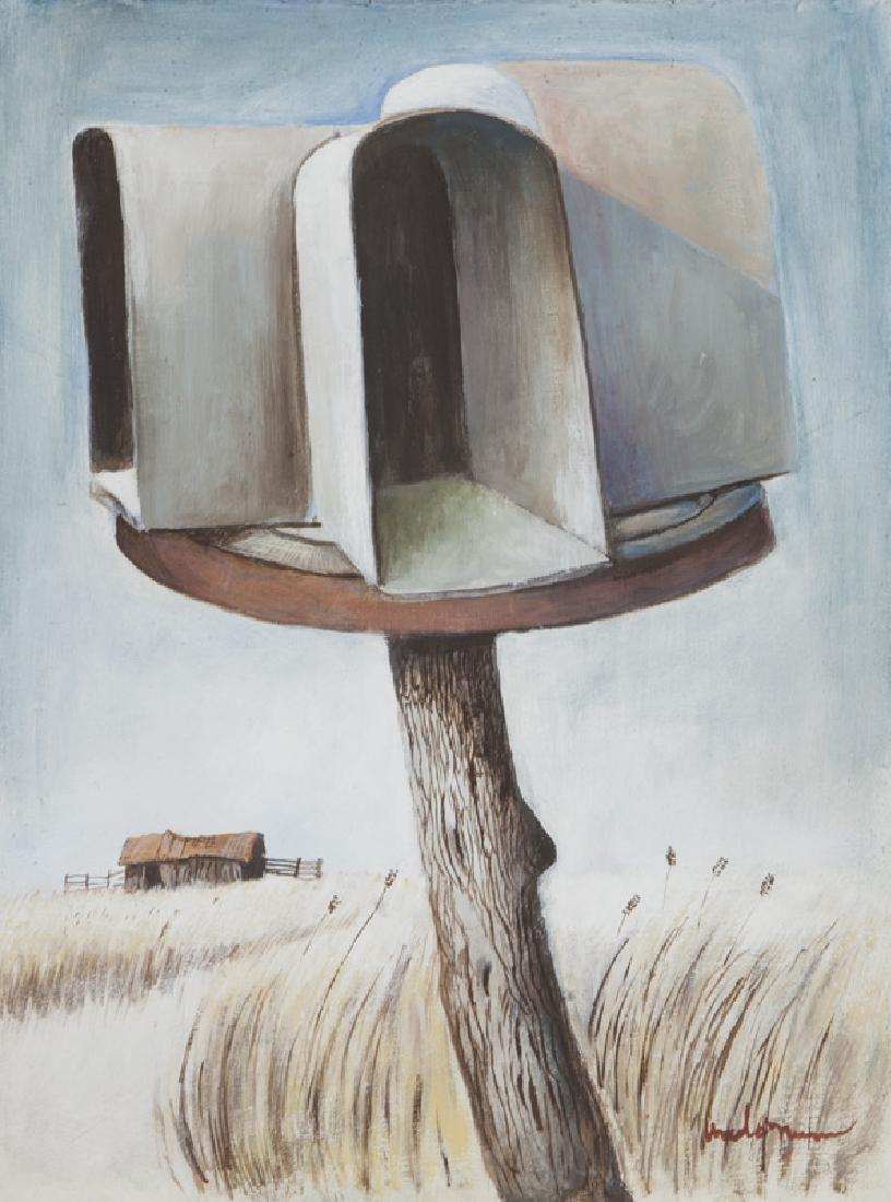 """Ancel Nunn """"Small Landscape"""" oil on board,"""