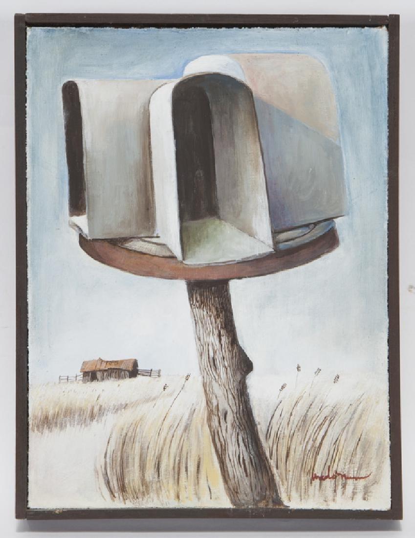 """Ancel Nunn """"Small Landscape"""" oil on board, - 2"""