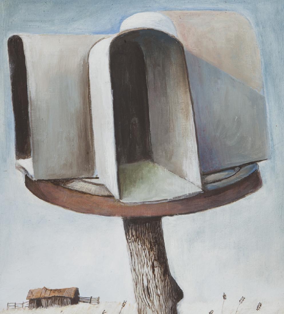 """Ancel Nunn """"Small Landscape"""" oil on board, - 3"""