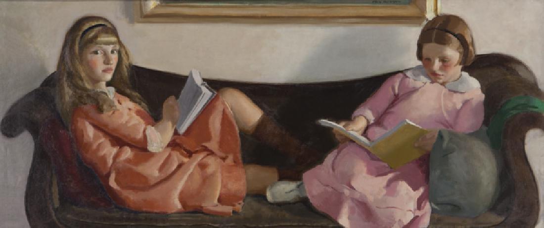 "Charles Hopkinson ""Girls Reading (Elinor and"