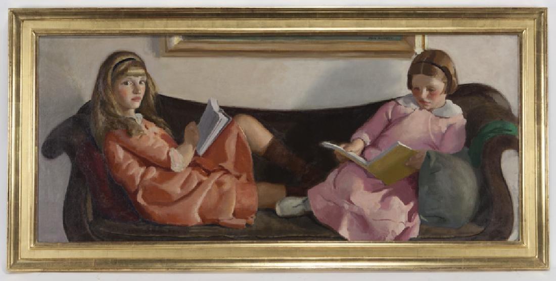 "Charles Hopkinson ""Girls Reading (Elinor and - 2"