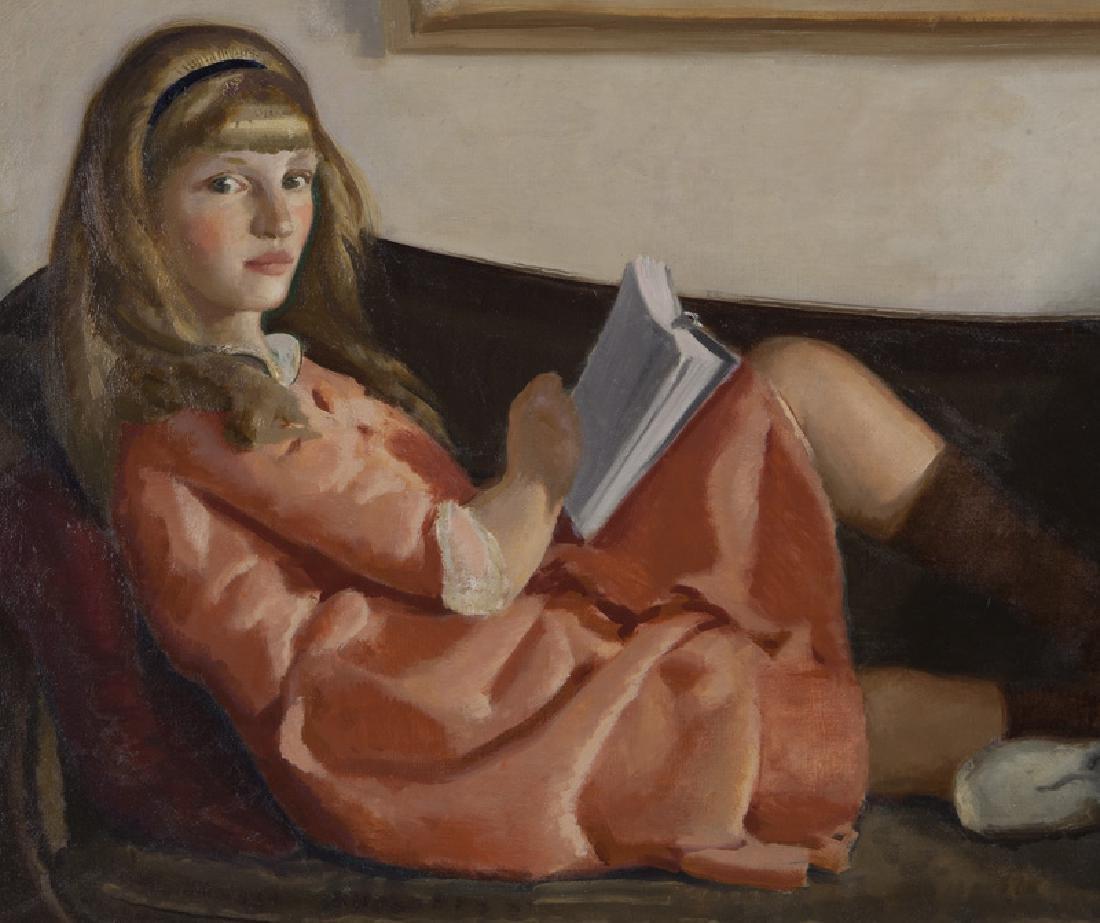 "Charles Hopkinson ""Girls Reading (Elinor and - 3"