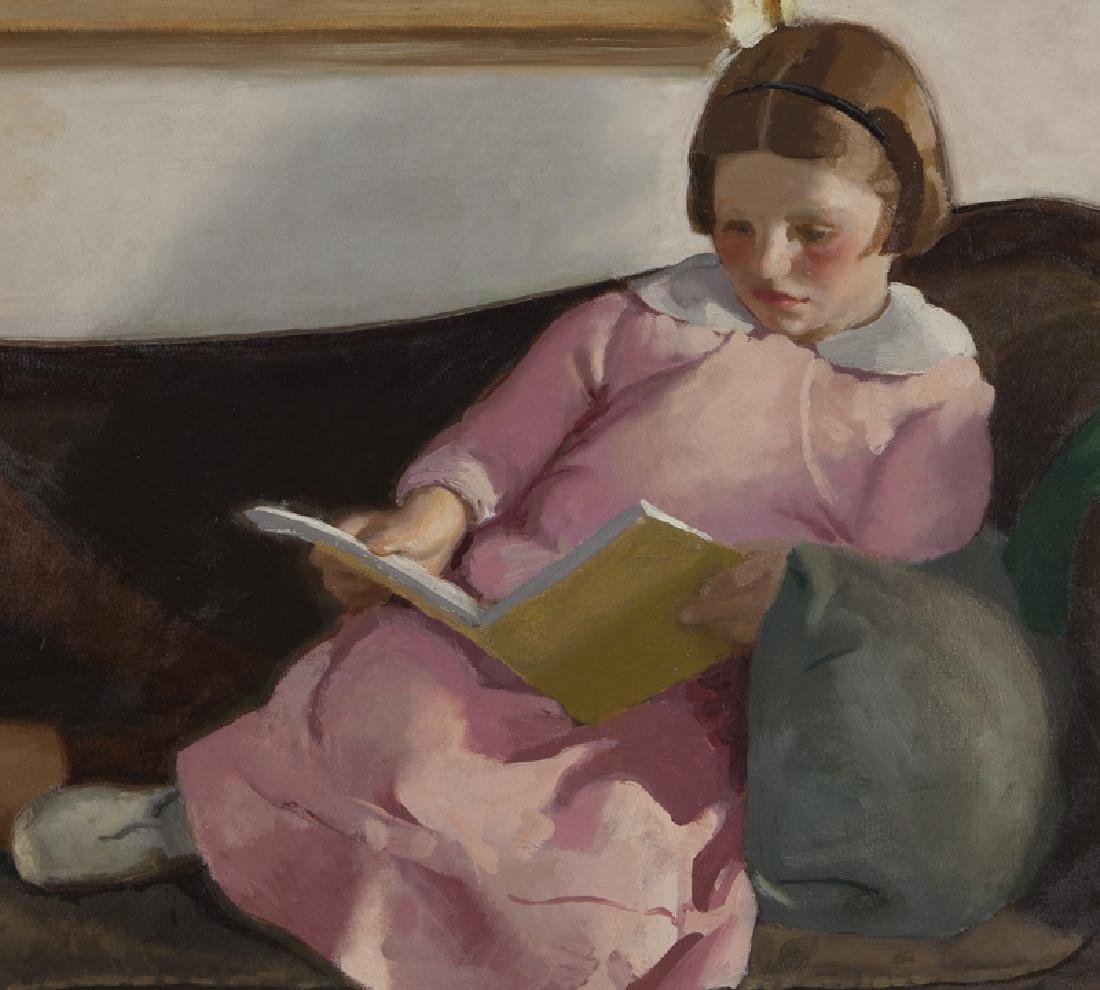 "Charles Hopkinson ""Girls Reading (Elinor and - 4"