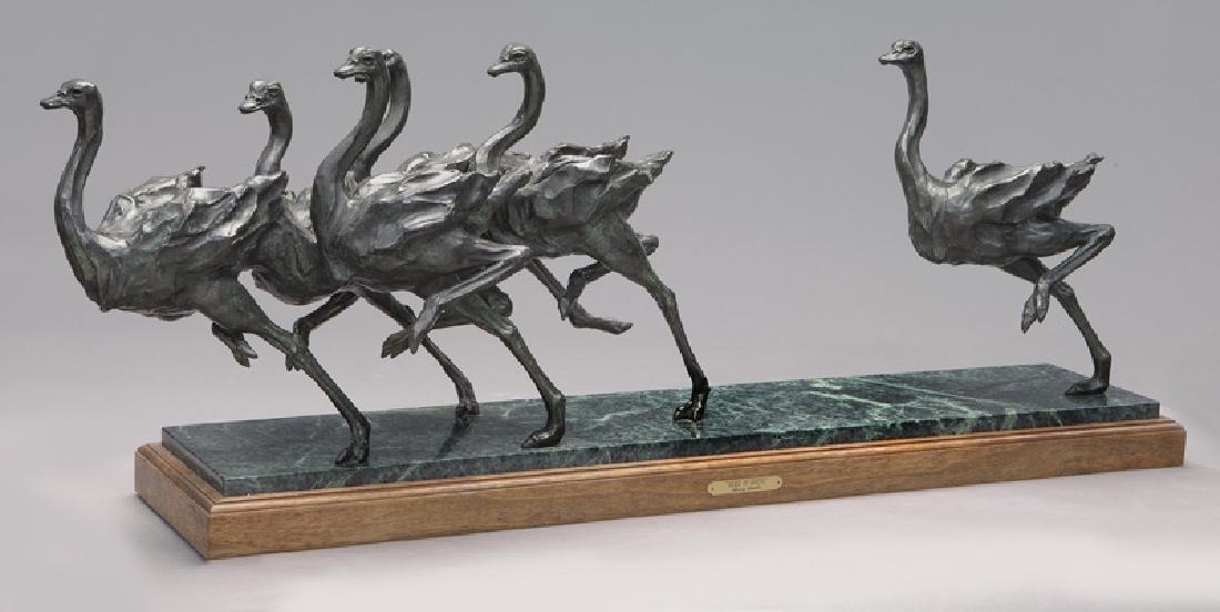 """Sherry Salari Sander """"Herd of Birds"""" bronze"""