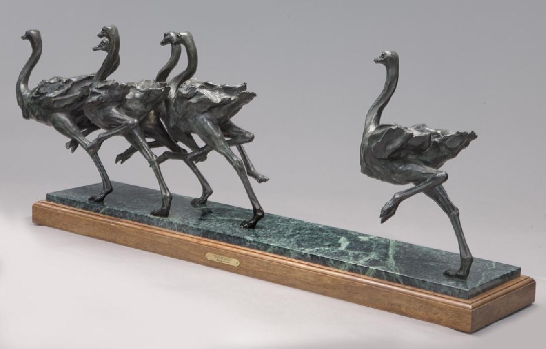 """Sherry Salari Sander """"Herd of Birds"""" bronze - 3"""