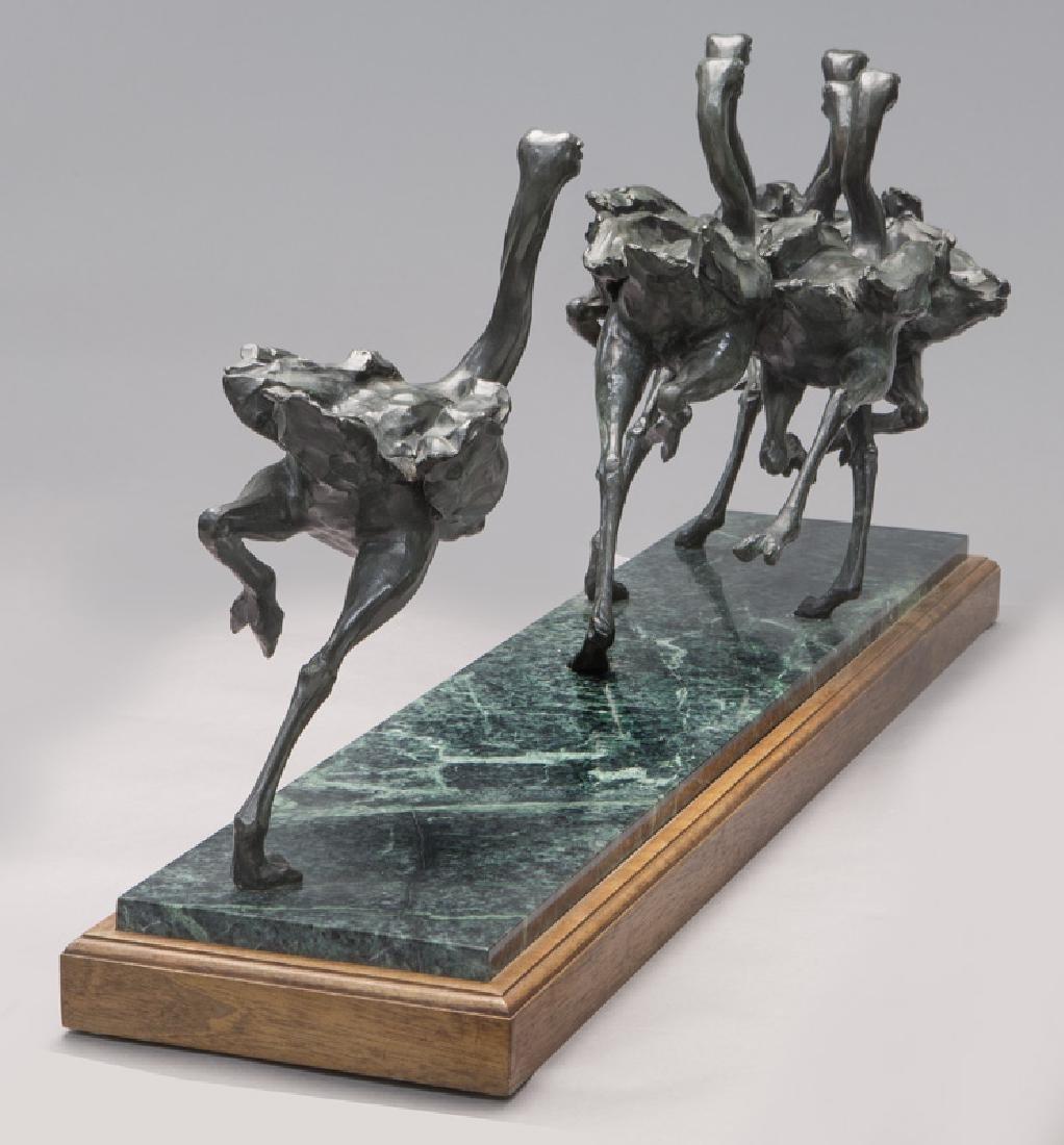 """Sherry Salari Sander """"Herd of Birds"""" bronze - 4"""