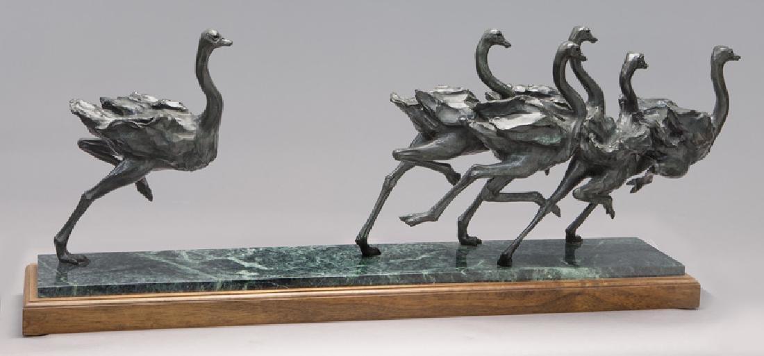 """Sherry Salari Sander """"Herd of Birds"""" bronze - 5"""