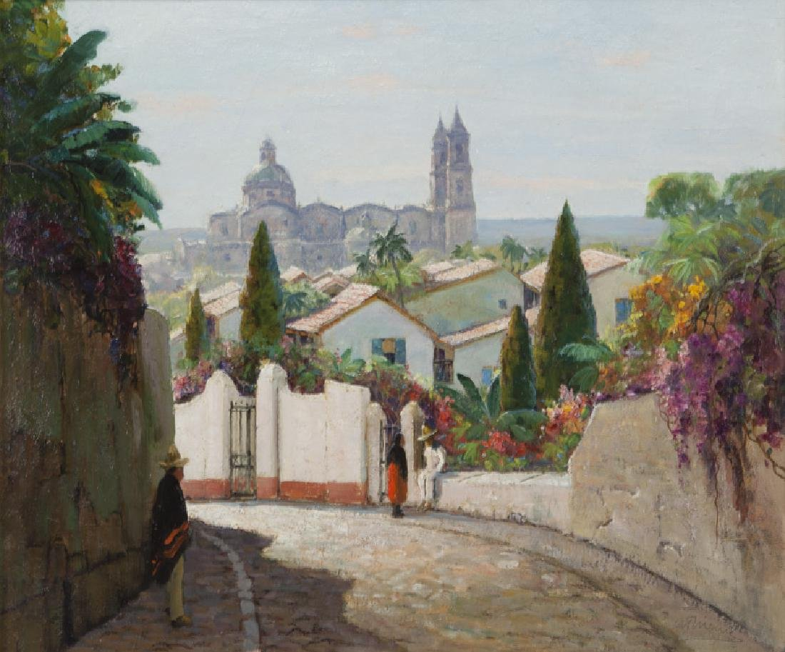 """Anthony Thieme """"Taxco Cathedral, Mexico"""""""