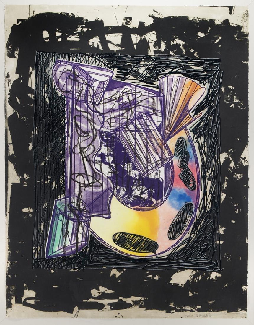 "Frank Stella ""Bene come il sale, State I"" etching"