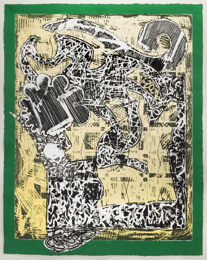 "Frank Stella ""Green Journal"" etching, screenprint,"