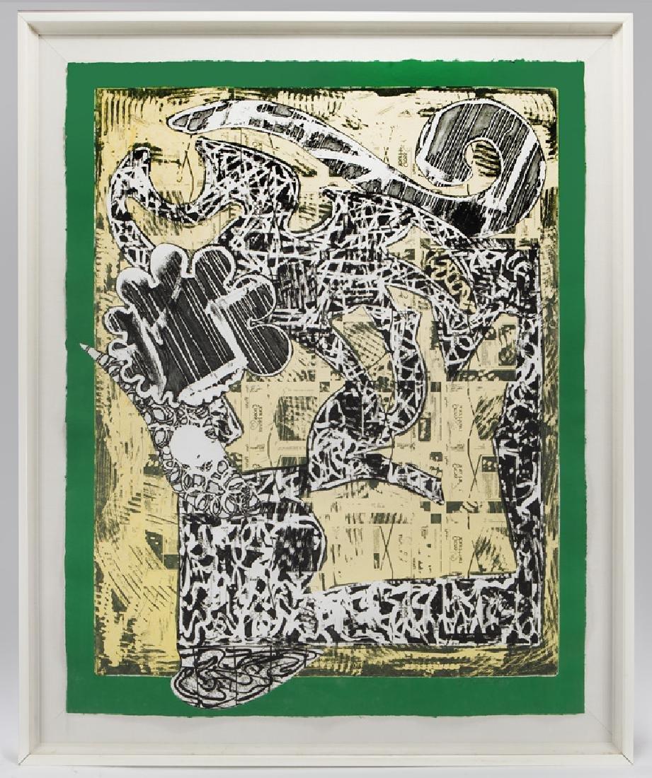 "Frank Stella ""Green Journal"" etching, screenprint, - 2"